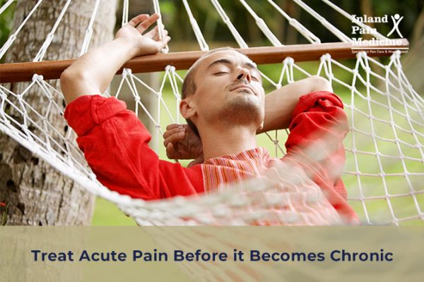 Treat Acute Pain Before it Becomes Chronic